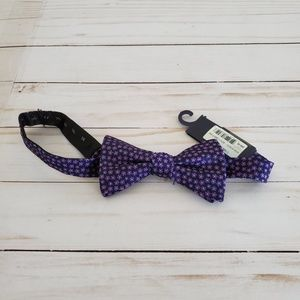 Tommy Hilfiger Navy and Purple Flowers Bow Tie NWT